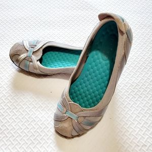 Clark's Privo Comfort Shoes Size 7 Gray and Teal